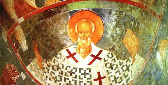 Museum of Dionisy's Frescoes - Ferapontov Monastery: Фреска Николай Чудотворец