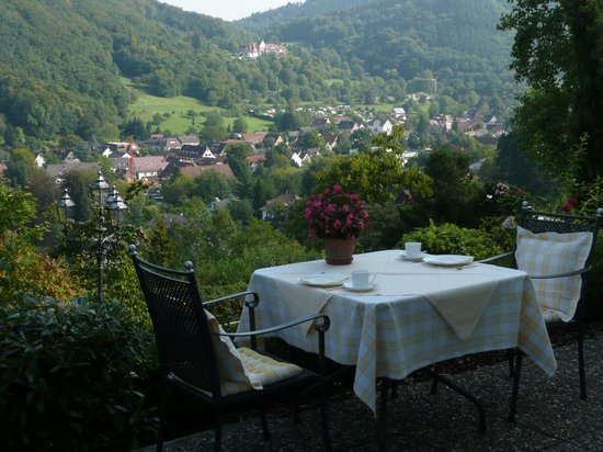 Hotel Schlossberg: View of the valley below