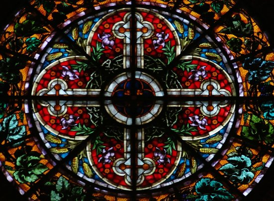 St. Mary's Dome Cathedral: Stained Glass Cross