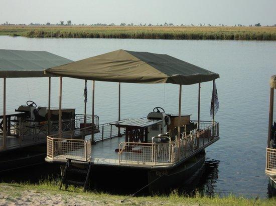 Chobe Game Lodge: Boat deck