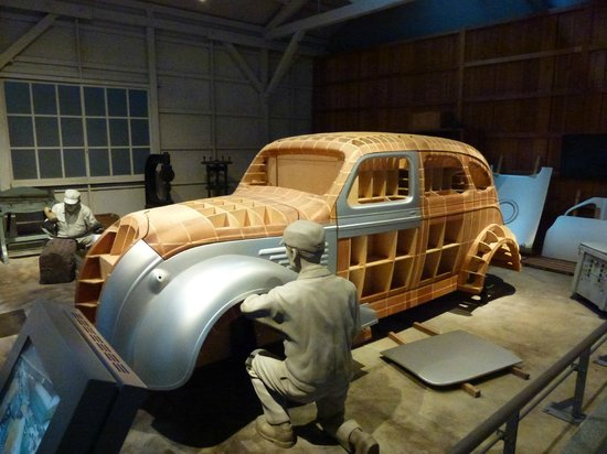 Nagoya, Japan: Hand made prototype for its first passenger car, the Toyota AA