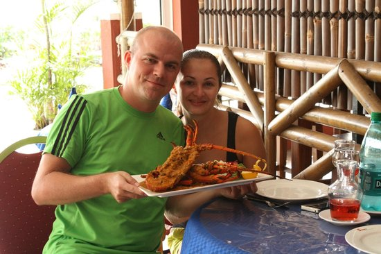 Symon's Restaurant: With the lobster :)