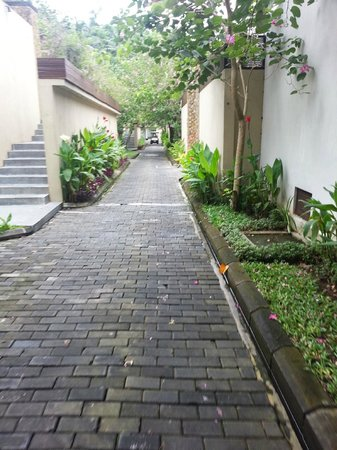 The Samaya Bali Ubud: on the way to the restaurant (golf cart)
