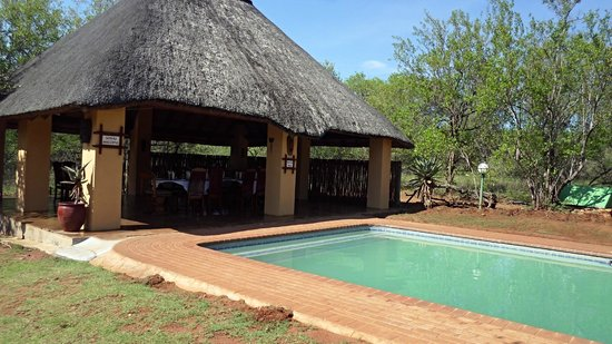 Royal Kruger Lodge: Breakfast and Swimming Pool Area