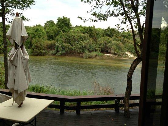 Royal Chundu Luxury Zambezi Lodges: River View from Island Villa 4