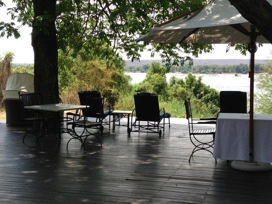 Royal Chundu Luxury Zambezi Lodges: Island Lodge Pool and Dining Area