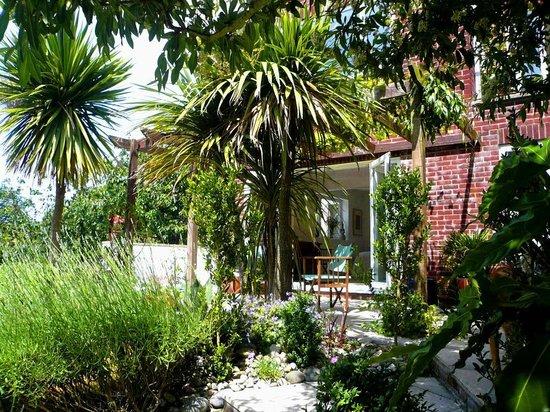 Lulworth House B&B : South facing lush garden & terrace