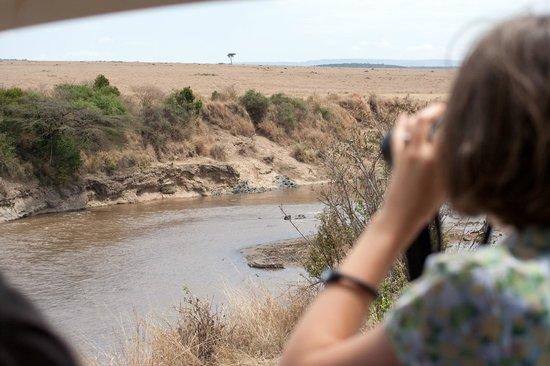 Ilkeliani Camp: Вид на саванну из отеля