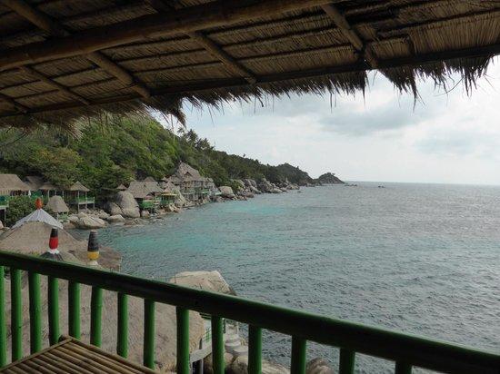 Koh Tao Bamboo Huts: La vue du balcon