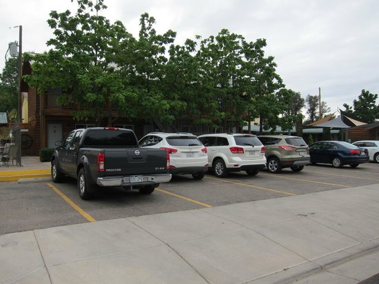 Canyons Lodge - A Canyons Collection Property: All the designated parking places were occupied, but it was easy to park next to the roadt