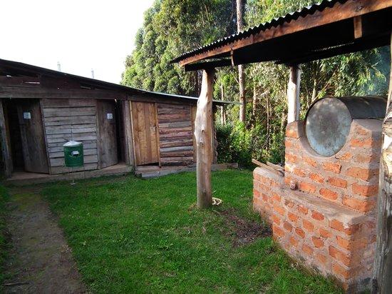 Ruhija Gorilla Friends Resort and Campsite : Hot water boiler and additional squat loos
