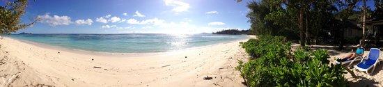 Hilton Seychelles Labriz Resort & Spa : La plage, beaucoup de place pour nous!