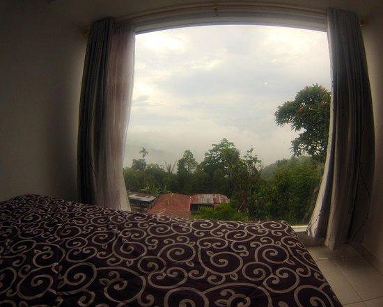 Aditya Homestay: vue du lit
