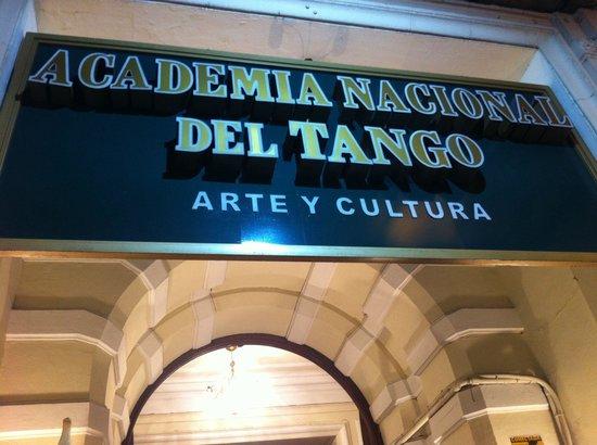 Academia Nacional del Tango: Faixada de entrada