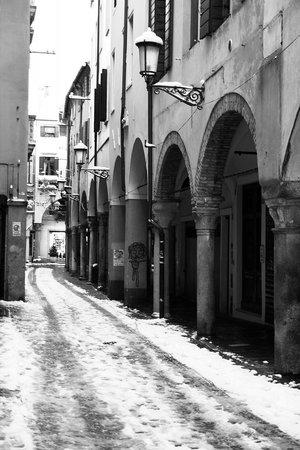 Quartiere dell'Antico Ghetto Ebraico di Padova: Ghetto with snow