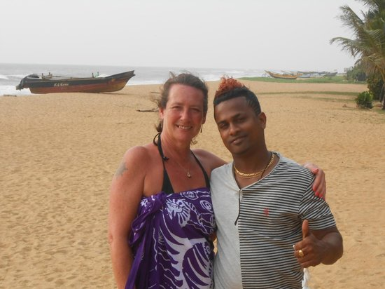 Hotel Mermaid & Club: Me & Suresh on the beach