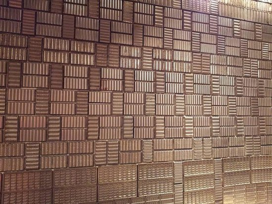 Fundación Casa Cortés: Chocolate Cortés wall composed of original 1940s and 1950s chocolate molds