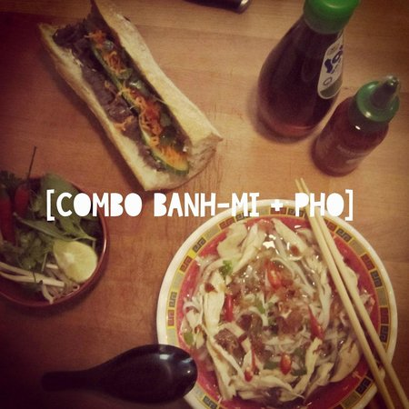 Banh mei : Soupe au poulet + sandwich viet