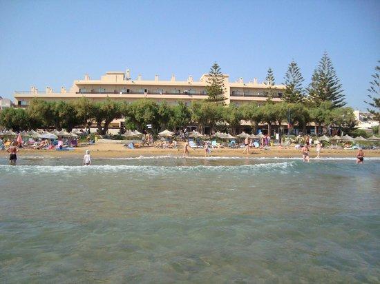 Santa Marina Beach Hotel: from the sea