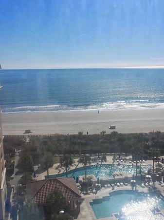 Marriott's OceanWatch Villas at Grande Dunes: Daily View from the 9th floor...