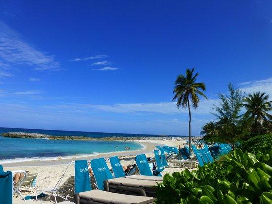 Atlantis - Harborside Resort : Gorgeous beaches with plenty of lounge chairs
