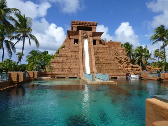 Atlantis - Harborside Resort : Mayan Temple -waterslide & tube ride through shark pool!