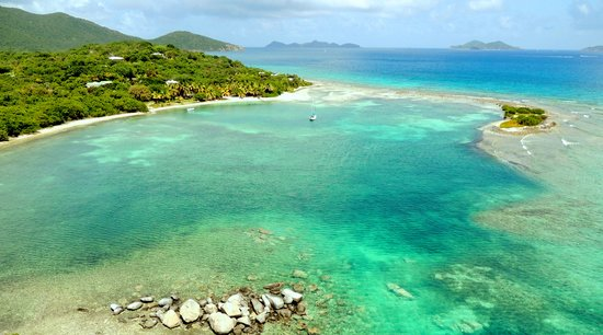 Surfsong Villa Resort : Beautiful BVI beach at Surfsong