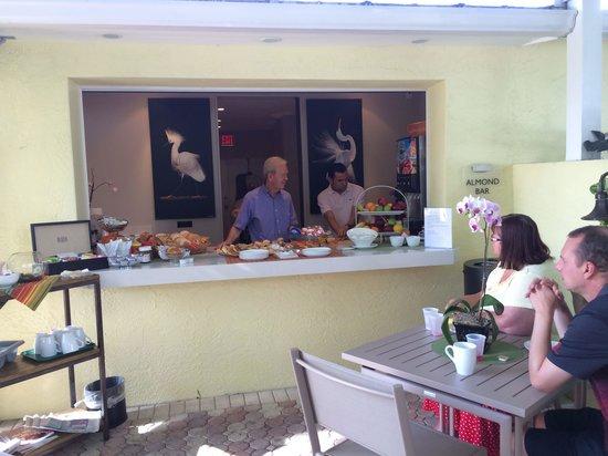 Breakfast at the Almond Tree Inn.