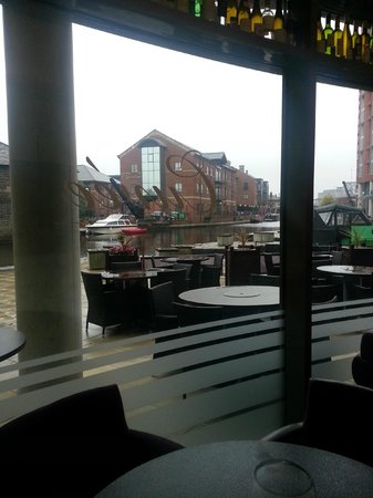 Cuvee Leeds: view on a rainy day!
