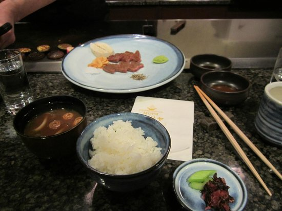 Moriya Honten: The rice, miso soup and pickles