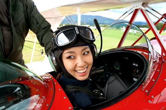 Abel Tasman Pilot a Stunt Plane: Excited to fly a plane for the first time!