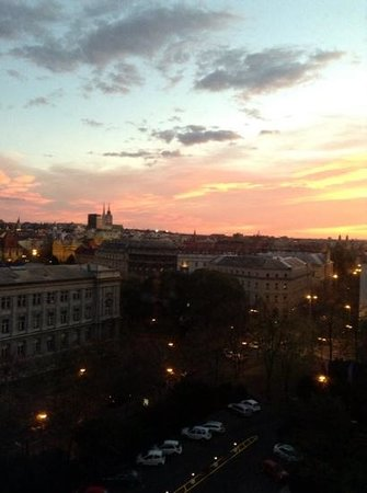 The Westin Zagreb: Bird's eye view of the city from my room