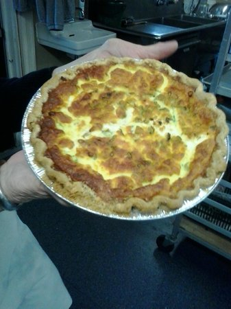 Kate's Sweet Indulgence Catering & Cafe: Quiche - by the slice  or made to order