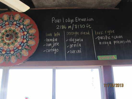 Poas Lodge and Restaurant: great information