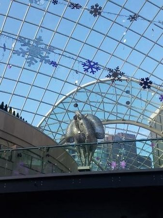 Trinity Leeds: the domed roof...