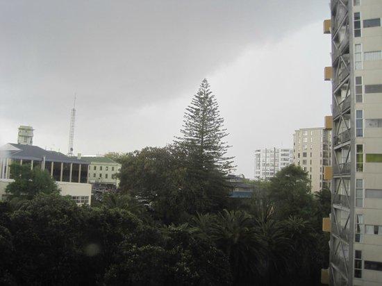 Kiwi International Hotel: View out window