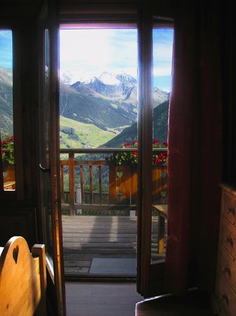Alpina Champex : The view from the corner room at Hotel Alpina. SEP13