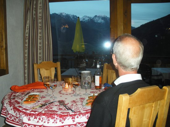 Alpina Champex : Dinner with a view - WOW. Hotel Alpina. SEP13
