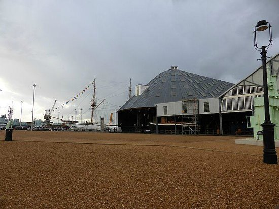 The Historic Dockyard Chatham: External view in the yard