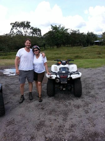 Original Arenal ATV : Like dummies we wore white T's, but as you can see- not too bad!!