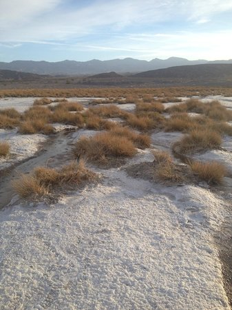 Furnace Creek Resort & Fiddler's Campground : This looks like snow...but it's salt!