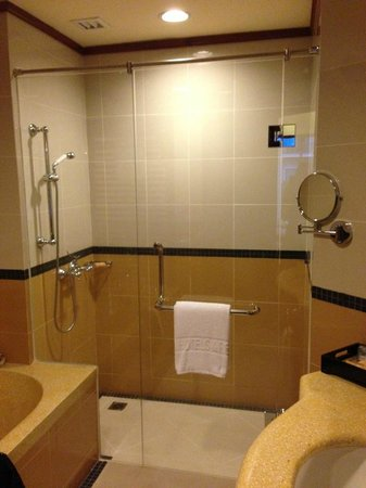 Sokha Angkor Resort: Seperate shower stand