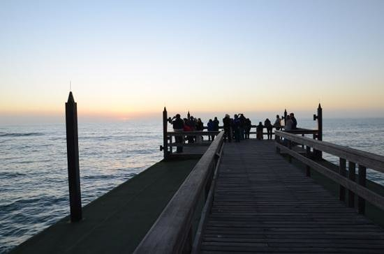 Jetty 1905 : sunset over the atlantic from the jetty