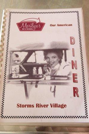 Marilyn's 60's Diner: Menu