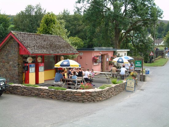 Withypool Tea Rooms: Adjoining the famous 1950's petrol station