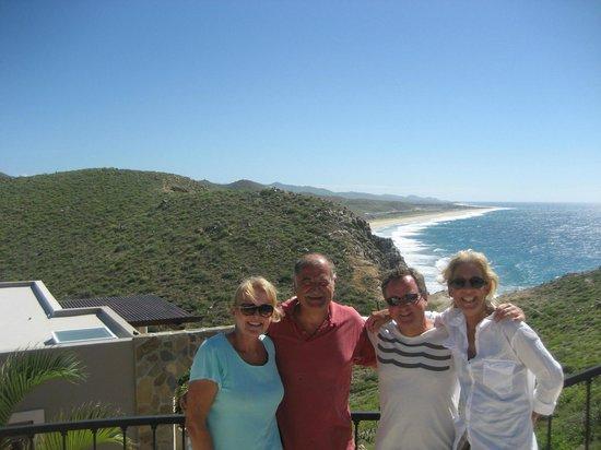 Arriba de la Roca: Shelby, Mauricio, Jim and me