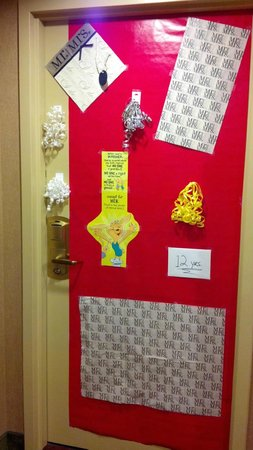 Hampton Inn Parsippany: OUR OUTER DOOR DURING OUR STAY