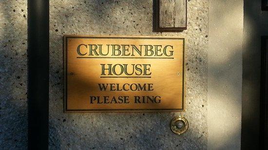 Crubenbeg House : Front door
