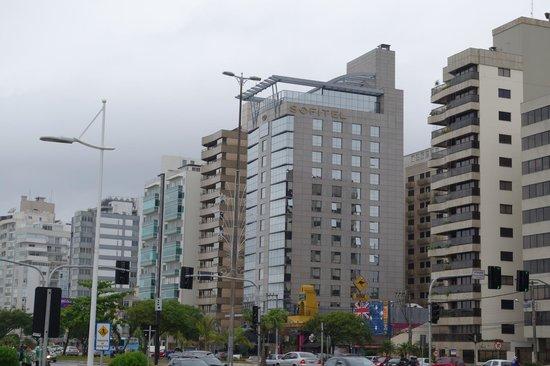 Novotel Florianopolis: View of the Sofitel Hotel from the beach