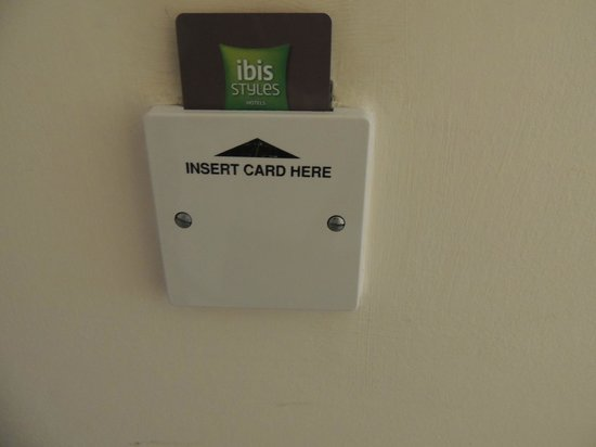 Ibis Styles London Southwark Rose: Insert your card ..:)